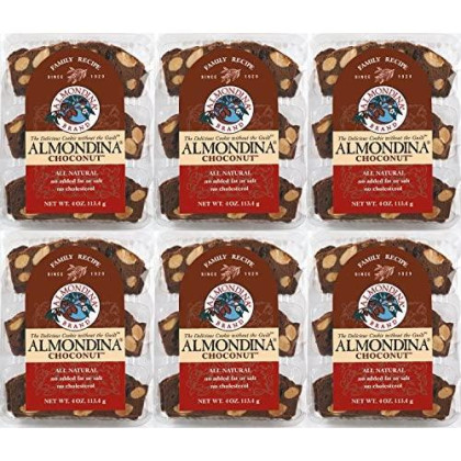 Almondina Almond Cookies, Choconut, 4-Ounce Package (Pack Of 6)