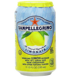 San Pellegrino Sparkling Beverage, Limonata (Lemon), 11.15 Fl Oz Cans, Pack of 24