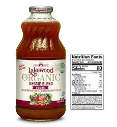 Lakewood Organic Super Veggie Juice, 32-Ounce Bottles (Pack of 6)