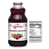 Lakewood Cranberry Juice Blend, 32-Ounce Bottles (Pack Of 6)