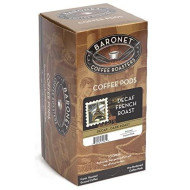 Baronet Coffee Decaf French Dark Roast, 18-Count Coffee Pods, 10 Gram Pods(Pack of 3)