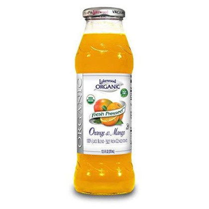 Lakewood Organic Orange Mango Juice, 12.5-Ounce Bottles (Pack Of 12)
