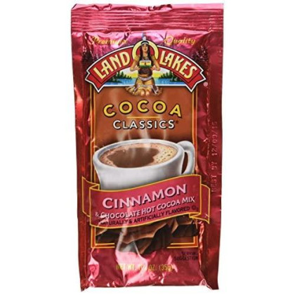 Land O Lakes Cocoa Classics Cinnamon and Chocolate Hot Cocoa Mix, 1.25 Ounce -- 12 per case