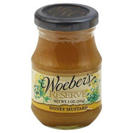 Woeber, Mustard Reserve Honey, 5 OZ (Pack of 6)