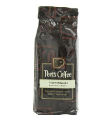 Peet's Coffee & Tea Major Dickason's Blend Grind Coffee, 16-Ounce Bags (Pack of 2)