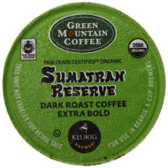 Green Mountain Coffee Organic K-Cup, Sumatran, 12-Count
