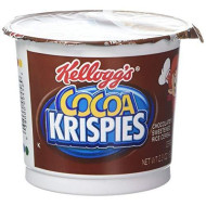 Kellogg'S Cocoa Krispies Chocolatey Sweetened Rice Cereal Six 2.3 Ounce Cups By Rice Krispies