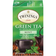 Twinings of London Mint Green Tea, 20 Count (Pack of 6)