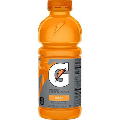 Gatorade Thirst Quencher, Orange, 12 Count, 20 Oz Bottles