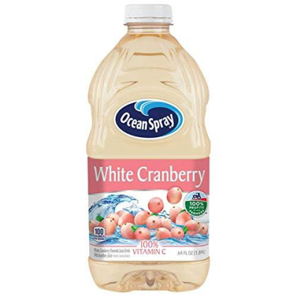Ocean Spray White Cranberry Juice Drink 8 Case 64 Ounce