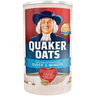 Quaker Oats 100% Whole Grain Quick 1 - Minute Net Wt 42oz. (2lb 10oz) 1.19kg