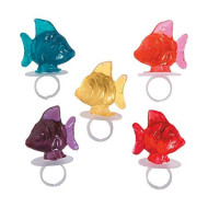 Tropical Fish Ring Suckers (12 Ring Pops) Party Candy
