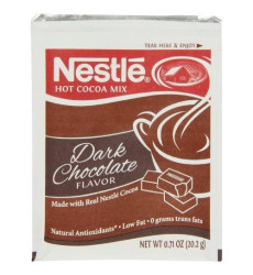 Nestle Hot Cocoa Mix, Dark Hot (0.71-Ounce), 50 Count Envelope