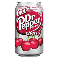 Dr. Pepper Diet Cherry Soda, 12 oz (12 Cans)