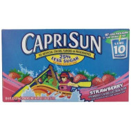 Capri Sun Juice Drink, Strawberry, 10-Count, 6-Ounce Pouches (Pack Of 4)