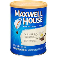 Maxwell House Vanilla Ground Coffee (11oz Jars, Pack of 3)