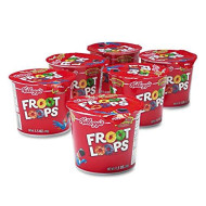 Kellogg's 01246 Froot Loops Breakfast Cereal, Single-Serve 1.5oz Cup, 6/Box
