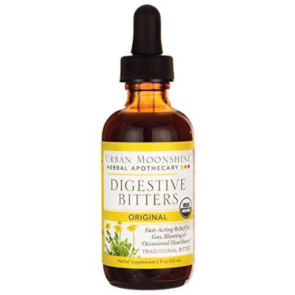 Urban Moonshine Original Digestive Bitters | Traditional Organic Herbal Supplement | Fast-Acting Relief For Gas, Bloating & Occasional Indigestion | 2 Fl Oz (Pack Of 1)