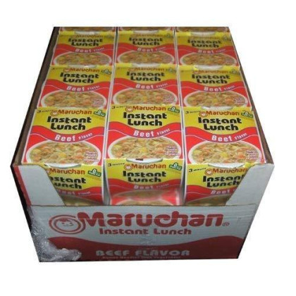 Maruchan Instant Lunch Cup O Noodles Beef Flavored Soup 24 Cups Per Box