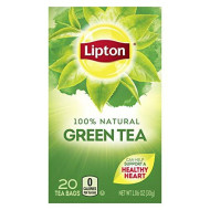 Lipton Tea Bags 100% Natural Green Tea Can Help Support a Healthy Heart 1.06 oz 20 Count
