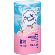 Crystal Light Pink Lemonade Drink Mix (8-Quart), 1.9-Ounce Canisters (Pack Of 4)