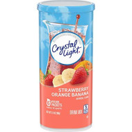Crystal Light Strawberry Orange Banana Drink Mix (24 Pitcher Packets, 4 Canisters of 6)