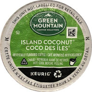Green Mountain Coffee Roasters Island Coconut, Single Serve Coffee K-Cup Pod, Flavored Coffee, 24