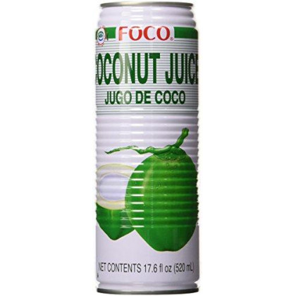 Foco Coconut Juice, 17.6 Fl Oz, Pack of 12