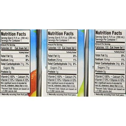 Apple Eve 100% Juice No Sugar Added Variety Pack 36 - 6.75 Oz. Boxes