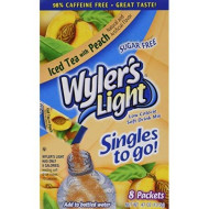 Wyler'S Light Peach Iced Tea Singles To Go (8 Packets Each Box) Four Boxes