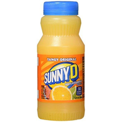 SunnyD Tangy Original Orange Flavored Citrus Punch, 6.75 Fluid Ounce, 24 Count