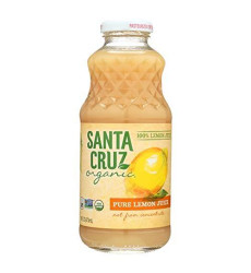 Santa Cruz Organic 100 Percent Lemon Juice, 16 Ounce - 12 Per Case.