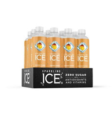 Sparkling Ice, Orange Mango Sparkling Water, with Antioxidants and Vitamins, Zero Sugar, 17 fl oz Bottles (Pack of 12)