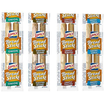 Lance Variety Breadsticks (4 Flavors), 2 Pieces Per Pack, 500 Count