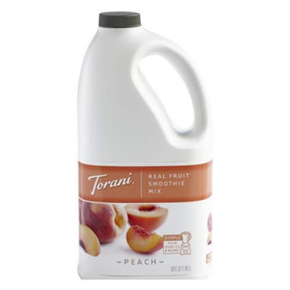 Torani Peach Real Fruit Smoothie Mix, 64 Oz