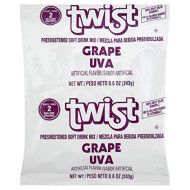 Twist Grape Powdered Drink Mix (8.6Oz Bag, Pack Of 12)