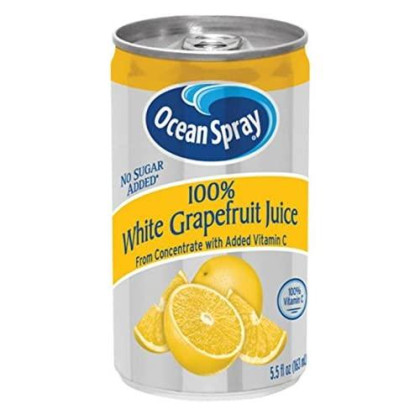 Ocean Spray 100% White Grapefruit Juice Mini Cans, 5.5 Ounce (Pack of 48)