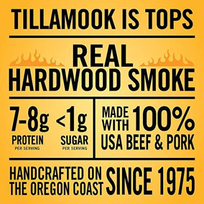 Tillamook Country Smoker Real Hardwood smokd Teriyaki Sticks Resealable Jar, 20 Count