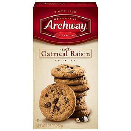 Archway Home Style Cookies, Oatmeal, 9.5oz, (pack of 2)
