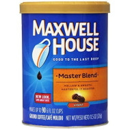 Maxwell House Master Blend Ground Coffee, 11.5-Ounce Cannister (Pack of 4)