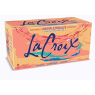 La Croix Sparkling Water, Grapefruit, 12 Fl Oz (Pack Of 8)