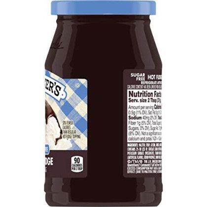 Smucker'S Sugar Free Hot Fudge Topping, 11.75-Ounce (Pack Of 6)