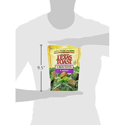 New York Texas Toast Croutons Caesar, 5-Ounce Bags (Pack Of 12)