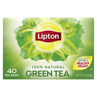Lipton Tea Bags 100% Natural Green Tea Can Help Support a Healthy Heart 2.12 oz 40 Count