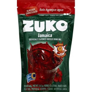 Zuko Jamaica Instant Powder Drink | Family Pack | No Sugar Needed | Vitamin C | 14.1 Ounce (Pack of 6)