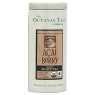 Octavia Tea Acai Berry (Organic White Tea) Loose Tea, 1.63-Ounce Tin