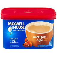 Maxwell House International Hazelnut Cafe Beverage Mix, Caffeinated, 9 oz Can (Pack of 1)