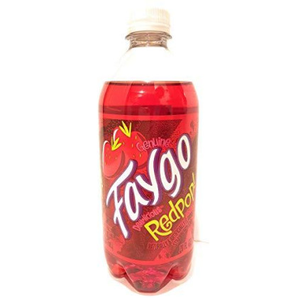 Faygo Redpop soda, 20-oz. plastic bottle