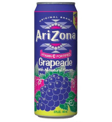 Arizona Grapeade, 23-Ounces (Pack Of 24)
