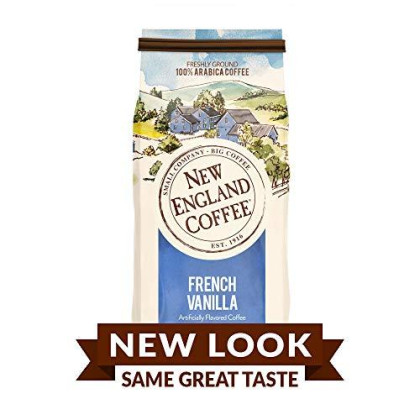 New England Coffee, French Vanilla, 11 Ounce (1 Count) Bag